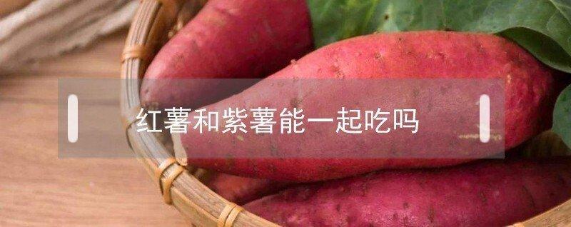 红薯和紫薯能在一起吃吗