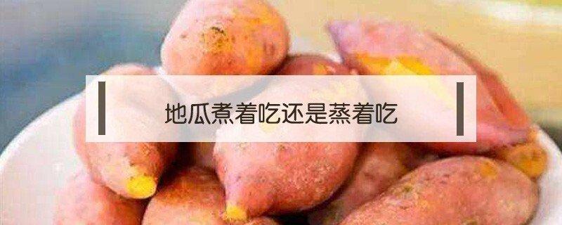 地瓜是蒸着吃还是煮着吃的