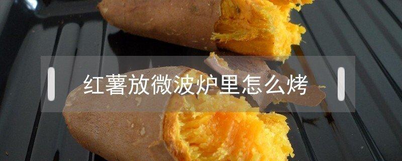 红薯放微波炉里怎么烤好吃